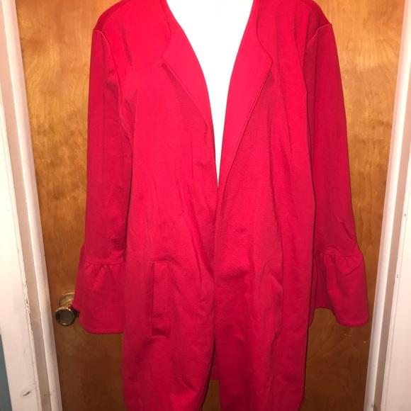 Lane Bryant Jackets & Blazers - NWT lane Bryant size 22/24 red dress jacket